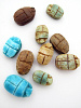 10 piece assortment of small scarab beads