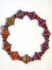 Tika's colour changing Mirage Bead Bracelet strung on stretch-magic elastic.