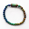 color-changing Micro Mirage Bead stretch bracelet with Glow-Nouveau center bead
