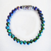 color-changing Micro Mirage Bead stretch bracelet with Secret-Garden center bead