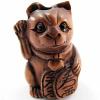 handcarved boxwood ojime bead of hello kitty