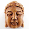 handcarved boxwood ojime bead of Buddha