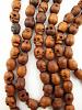 Prayer bead mala strand of 108 carved wood skull beads