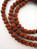 Prayer bead mala strand of 108 tiny rudraksha seed beads