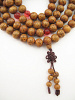 Prayer bead mala strand of 108 brown Lotus Seed beads
