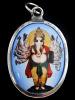 multi-armed Ganesh enamel deity pendant