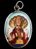 Vishnu enamel deity pendant