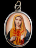 Immaculate Heart of Mary enamel deity pendant