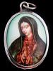 Mary in prayer enamel deity pendant
