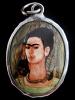 """Frida Kahlo enamel deity pendant based on her painting """"Self-Portrait with Monkey"""""""