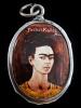 Enamel Deity Pendant based on one of Frida Kahlo's many self-portraits