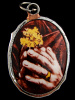 Praying Hands enamel deity pendant, a symbol of peace