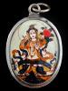 White Tara enamel deity pendant, representing qualities of compassion, health and healing