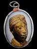 Ancient Ife sculpture enamel deity pendant