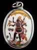 Kali enamel deity pendant, the goddess of mysteries and destruction
