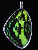 XXL green and black (Urania rhipheus) shimmerwing pendant with butterfly set in sterling silver