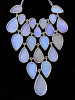 Pearl Blue Morpho (Morpho sulkowski) Large Shimmerwing link necklace with adjustable sterling silver chain