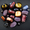 Colorful assortment of India glass beads in lovely lavender and copper tones