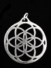 silver-toned brass pendant with Seed of Life design from Sacred Geometry Tradition