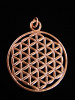 copper pendant with Flower of Life design from Sacred Geometry Tradition