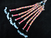 Vintage Turkoman beaded Double Tassel set from Central Asia