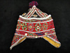 Vintage Tribal Child's hat with traditional Uzbek-Lakai cross-stitch embroidery