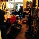 Tika girls setting up the showroom in Tucson