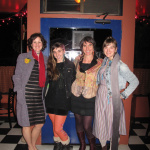 Tika girls out our annual holiday dinner