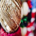 closeup detail of an Afghan tassel