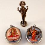Tika merchandise featuring Lakshmi imagery