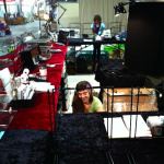 setting up the Tika booth at the LA gift show 2012
