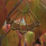 Artemis earrings from the Odyssia Brass Earring line - shown out in nature