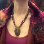 spice road necklace being worn