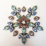 mandala of peace and yoga related enamel deity pendants