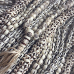 carved bone mala prayer beads