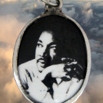 enamel pendant featuring Drr. Martin Luther King Jr