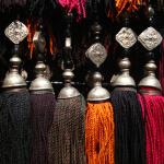 afghan tassels on display