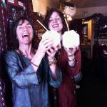 Tika girls enjoying fresh coconuts in Tucson