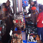 Customers shopping at Tika's booth in Tucson