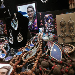 an assortment of Tika merchandise in the lobby showcase