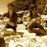 Tika girl July 4th picnic on the beach