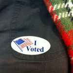 'I voted' sticker