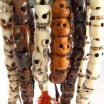 assorted handcarved skull stretch mala bracelets