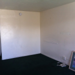 Tika's empty room before setting up in Tucson