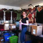 setting up Tika's showroom in Tucson