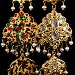 Antique Afghani Gold Earrings