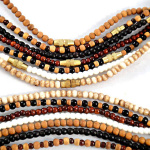3mm beaded necklaces in assorted materials