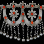 Antique Turkoman Silver Ornament from Afghanistan
