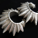 Antique Silver Gokhru Cuffs