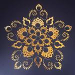 mandala made from Odyssia Brass Earrings